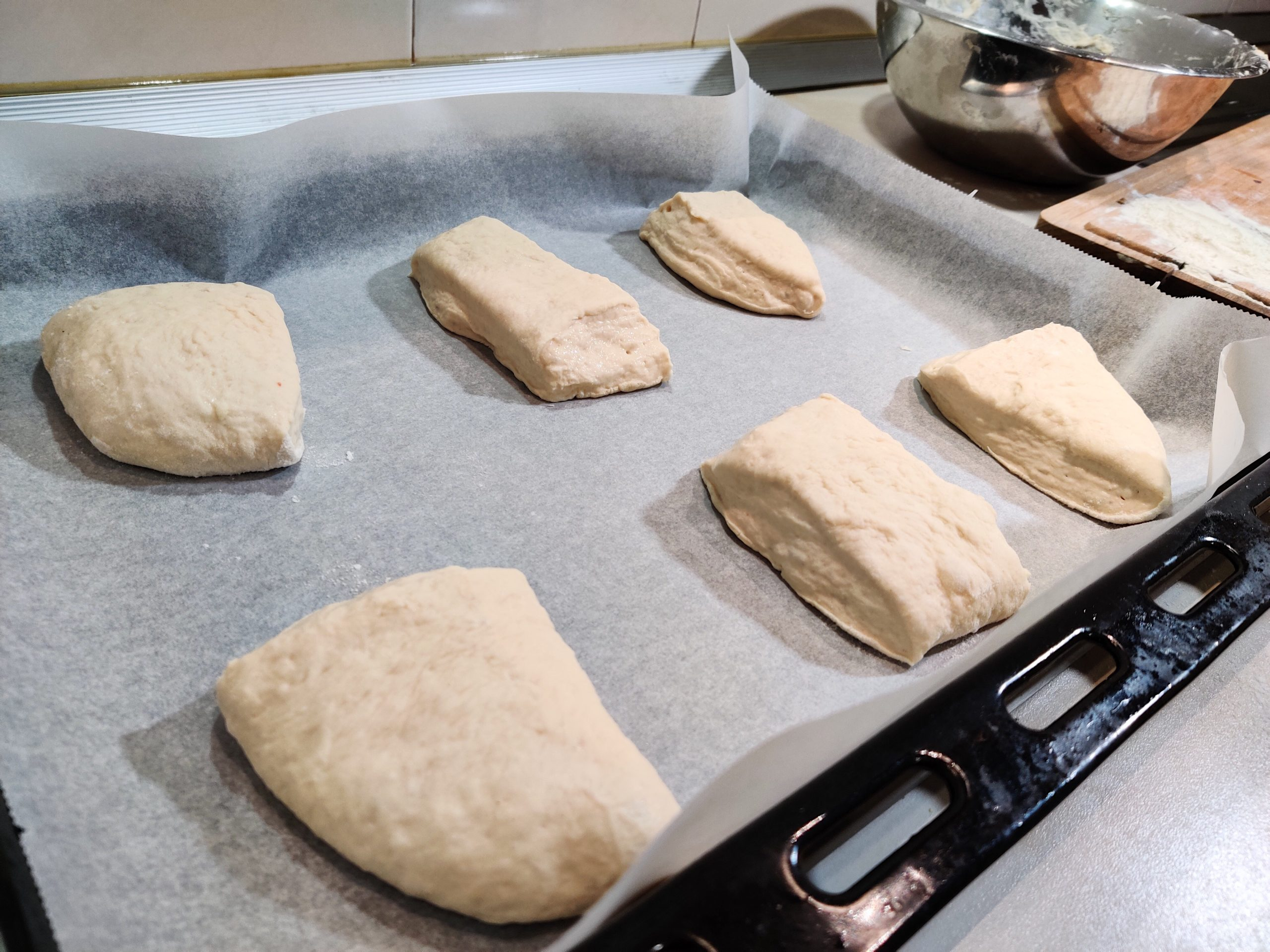 pieces of dough