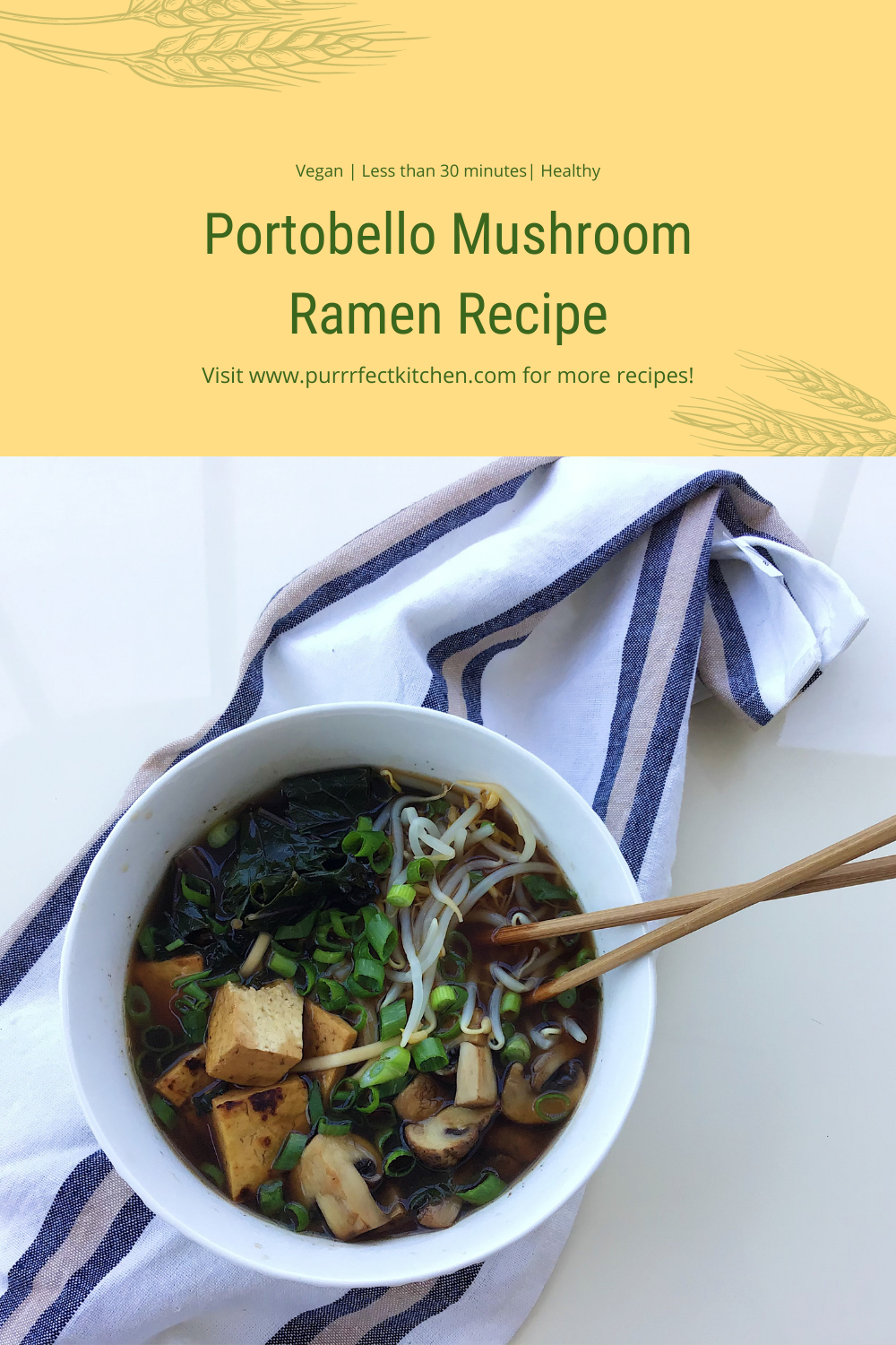 Purrrfect kitchen pinterest pin vegan ramen